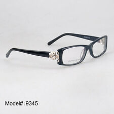 9345 full rim optical glasses acetate spectacles flower decorated eyewear frames