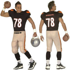 Mens American Football Player Costume Kit Jersey Top Superbowl USA NFL Stag Set