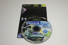 Halo (1) Combat Evolved Xbox Game Disc and Manual Only Free Slim Case