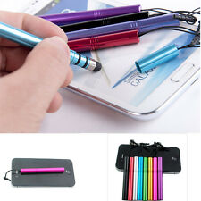 8 Colors  Metal Anti Dust Cap Stylus Touch Screen Pen For iPhone 5S/5/4