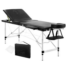 WATERFLY Portable Soft Massage Table Aluminium 3 Fold Chair Bed Black 60cm NEW