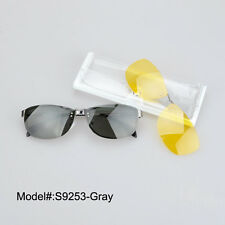 S9253 fashion optical frames clip on sunglasses polarized night vision sunshades