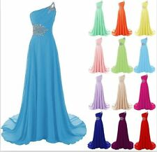 New Long Evening Gown Party Prom Bridesmaid Dress Size 6 8 10 12 14 16 18 20 22