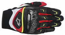Alpinestars SMX-2 Air Carbon Motorcycle Gloves Red Black Fluo