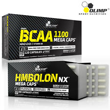 BCAA + HMBolon 60-180 Caps Amino Acids HMB Lean Ripped Muscle Growth Recovery