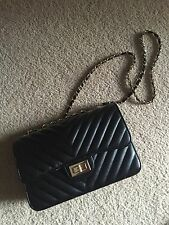 Women's Black Handbag / Purse - Similar Style To Chanel