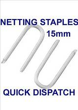 100 x 15mm GALVANISED NETTING STAPLES U NAILS FENCING CHICKEN WIRE