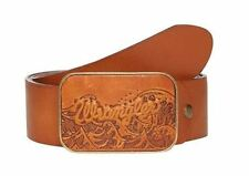 "Wrangler ""Leather Buckle"" Cut to Fit Belt in Cognec,Size XS(32"")-XXXL(46"")"