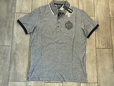 JUST CAVALLI Men's Polo Shirt Cotton Short Sleeve S01GC0249 005F - New With Tags