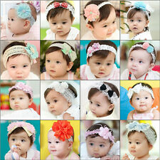 Fashion Baby Kid Girl Toddler Hairband Bow Lace Flower Hair Accessories 0054