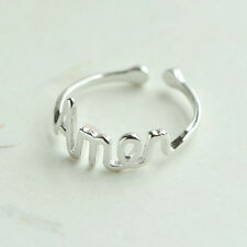 Fashion New Women Silver Plated Jewelry Lady Heartbeat Adjustable Ring