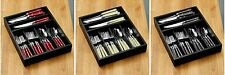 Cafe Cutlery Set 36pc Stainless Steel With Wooden Tray For Home Kitchen Dining