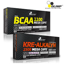 BCAA + Kre-Alkalyn 60-180 Caps. Amino Acids Buffered Creatine Monohydrate Pills