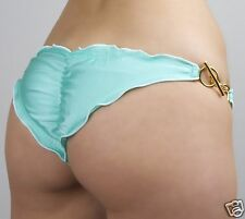 Ritchie Swimwear Sexy Mint Skimpy Scrunch Brazilian Bikini BOTTOM Toggles