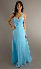 One Shoulder Formal Prom Dresses Party Evening Pageant Bridesmaid Ball Gown