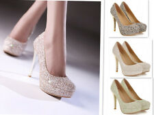 Women Sexy High Heels Pump Platform Buckle Stiletto Shoes Party/Wedding Shoes
