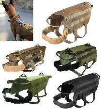 TACTICAL DOG VEST HARNESS K9 MOLLE HUNTING TRAINING MILITARY VELCRO PATCH PANEL