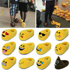 Unisex Winter Warm Emoji Soft Novetly Plush Antiskid Indoor Home Slippers Shoes