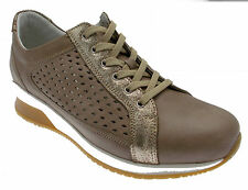 Article C3663 laces leather taupe beige perforated Loren