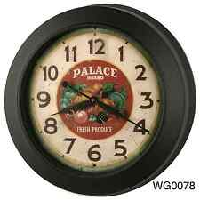 19-inch Classic Vintage Style Oversized Gallery Metal Wall Clock Thickish Frame