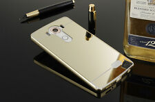Luxury Thin Aluminum Metal Bumper Mirror PC Back Case Cover For LG V10 G2 G3