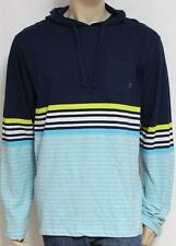 Billabong Spinner Lightweight Hoodie Shirt Mens Blue Striped Long Sleeve New NWT