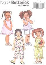 Butterick 4173 Girls' Top, Dress, Shorts and Pants  Sewing Pattern
