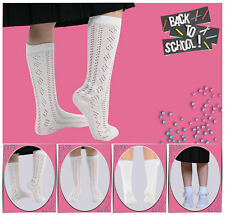 White Frilly Chic Formal Wear Socks Selection For Girls 3 Pairs Range Of Sizes