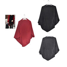 Women's Batwing Top Knit Cape Cardigan three quarter sleeve Knitwear