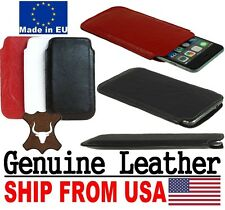 # SLIM POCKET CASE MADE OF GENUINE REAL LEATHER SLEEVE POUCH FOR MOBILE PHONES
