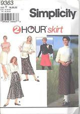 Simplicity 9363 Misses'/Miss Petite Set of Skirts  18, 20, 22  Sewing Pattern