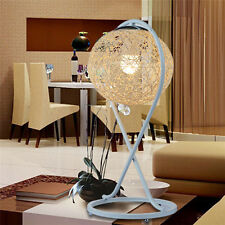 Hand Made Metal Rattan Home Cafe Table Lamp Bedroom Desk Gift Light Oa