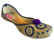 US Indian Khussa Shoes Slipper Sandal Mojri For Women Saree Ethnic Shoes   DD549
