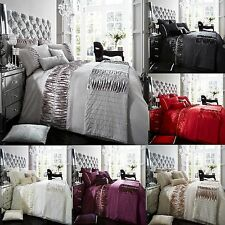 Alina Duvet Cover Set+ Pillow Cases,Luxury Bed Linen Single,Double,King,Super k