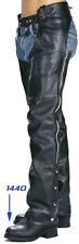 XELEMENT Classic Motorcycle Unisex Leather Chaps B7550