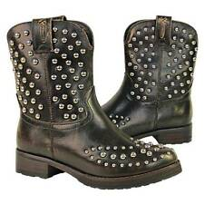 Antique Brown  Xelement Womens Cowgirl Studded Leather cushioned Boots LU8032