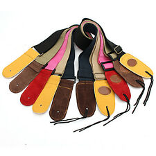 5 Colors Adjustable Leather Ends for Electric Guitar & Bass Strap 80cm-130cm US