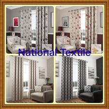 NEW LUXURY FULLY LINED EYELET CURTAINS OR MATCHING CUSHION COVERS