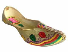 US Ethnic Bridal Flats Wedding shoes Indian Designer shoes punjabi jutti   DD566