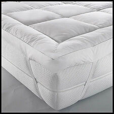 Mattress Topper Duck Feather&Down Extra Thick Box Constructed Stitched All Size