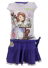 Girls Disney Minnie Mouse Princess Sofia 2PC Summer Set Top and Skirt Set Age2-8