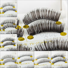 5 Pairs Women Natural Long False Eyelashes Makeup Eye Handmade Lash Lashes 10i