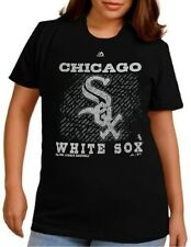 Chicago White Sox MLB Womens Majestic Her Shine Shirt Black Plus Size 4X