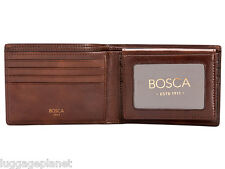 Bosca Dolce Leather Mens Bifold Credit Wallet w/ Removable I.D. Passcase 195