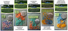 NEW CLOVER KNITTING STITCH MARKERS * Your Choice * Soft Locking Split Ring
