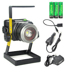 Zoom 10W Rechargeable LED T6 Flood Work Light Lamp Cordless Portable Floodlight