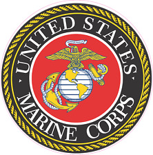 UNITED STATES MARINE CORPS  color print cut Vinyl Decal  Sticker 5 sizes