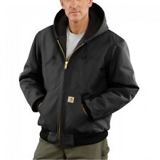 Carhartt J140 Men's Duck Active Jacket Quilted Flannel Lined Black Size S   USA