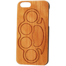 Case Worx Brass Knuckles Wood Cell Phone Case Knuckle Duster Punk