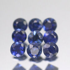 2.1mm Lot 1,2,6,10pcs Heated only! Round Calibrated Natural Blue SAPPHIRE